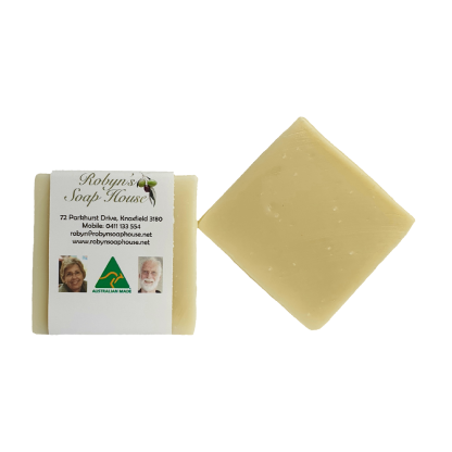small square solid shampoo bar australian made hand made plastic free paper compostable packaging